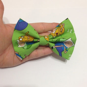 Adventuretime Green Hair Bow - 4.5 Inches Wide