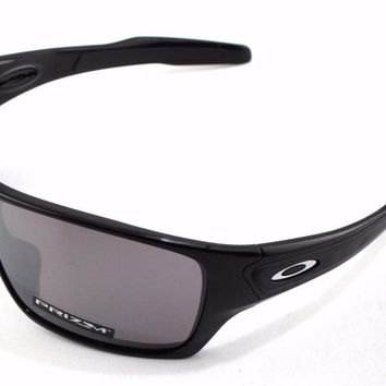 New Oakley Sunglasses Turbine Rotor Black w/Prizm Polarized #9307-1532 In Box