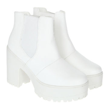 Nora White High Heels Ankle Boots - UK 6 | Shoes | Rokit Vintage Clothing