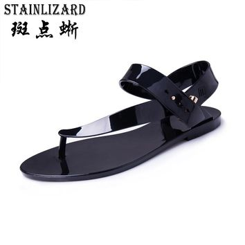 New Women Sandals Summer Crystal Flowers Thong Shoes Women Flat Flip Flops Beach Shoes Female Sandals ST1009