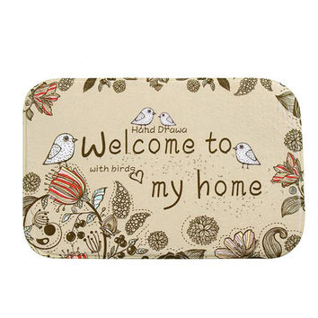 fashion welcome to my home Door Mat Outdoor Indoor Antiskid Decor Doormat u6711
