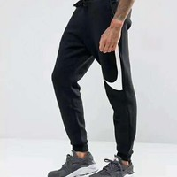 """Fashion """"NIKE"""" Big Logo Print Thick Sport Stretch Pants Trousers Sweatpants Gym Jogging Exercise Casual Sportswear G-A-GHSY-1"""