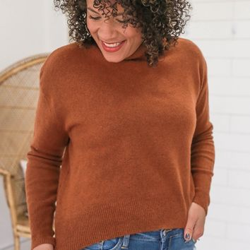 Be Intentional Sweater - Rust