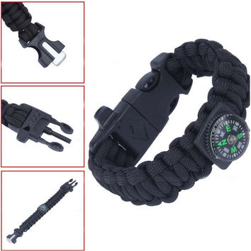 Paracord Survival Bracelet w/Compass