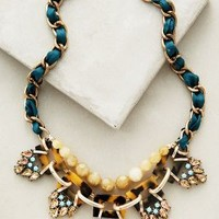 Cyprien Bib Necklace by Anthropologie Green One Size Necklaces