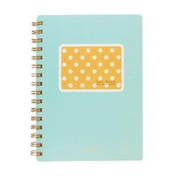 Dot Book Hardcover Compact SP Notebook - Yellow Dot w/ Mint Background