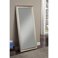 Sandberg Furniture Champagne Silver Finish Full Length Leaner Mirror | Overstock.com Shopping - The Best Deals on Bedroom Mirrors
