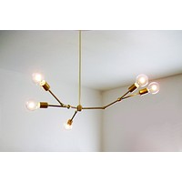 Linden Chandelier: Modern 5-light Asymmetric Chandelier