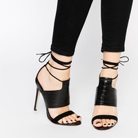 ASOS HENDRICKS Lace Up Heeled Sandals