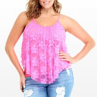 Plus Size Blossom Lace Cami | Fashion To Figure