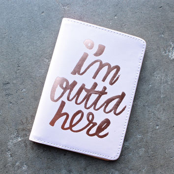 ban.do the getaway i'm outta here - passport holder