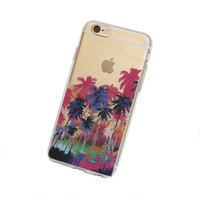 iPhone 6, 6Plus Palm Tree Paradise Case - Your choice of Soft Plastic (TPU), Hard Plastic, or Wood