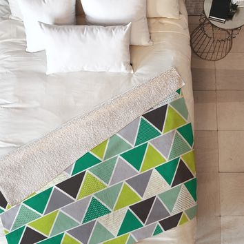 Heather Dutton Emerald Triangulum Fleece Throw Blanket