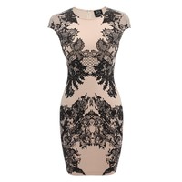 Ornate Lace Print Cap Sleeve Dress McQ | Dress | Ready To Wear