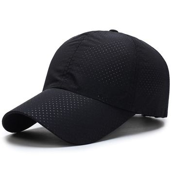 Ultra-slim and quick-drying fabric Women Man Summer Quick Dry Mesh Cap Running Hat Bone women's caps Breathable Hats
