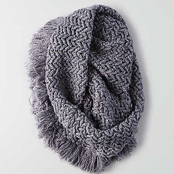 AEO Marled Fringe Snood , Navy