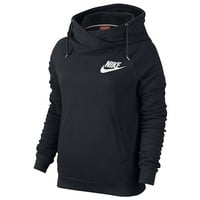 Nike Rally Funnel Neck Hoodie - Women's at Lady Foot Locker