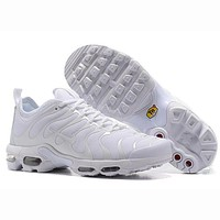 Nike Air Max Plus TN Fashion Casual Running Sneakers Sport Shoes For Women Men White