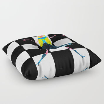 Pop Star Singer Floor Pillow by Azima