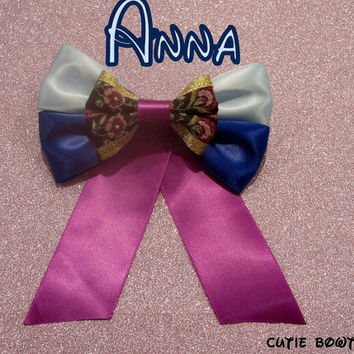 Anna Hair Bow Disney Frozen Inspired
