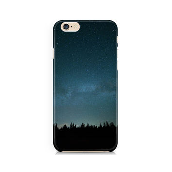 Stars over the forest trees cell phone case, nature, space,  Apple iphone, Samsung Galaxy, Note, 6, 6 plus, 5, 4 etc