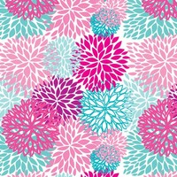 pink and blue flowers - mcherevan - Spoonflower