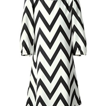 Sequin Hearts Girls Dress, Girls Zigzag Chiffon Dress