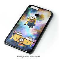 Despicable Me Minions In Galaxy Logo Apple Design for iPhone 4 4S 5 5S 5C 6 6 Plus, and iPod Touch 4 5 Case