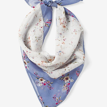 White House Black Market Silk Floral Mini Scarf