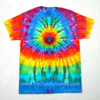 SALE! Medium Rainbow Spider Tie Dye Shirt
