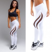 Brand New Women Clothing Printed Yoga Sports Running Pants Leggings Stretchy Fitness Trousers Gym Ladies Clothes