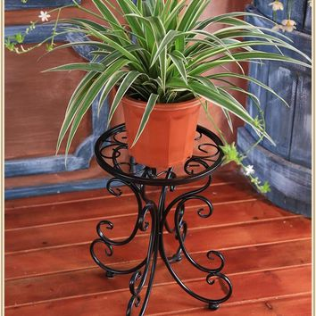 34*24*25cm european balcony and indoor flower pot holder garden flower stand iron flower pergolas white black and copper color