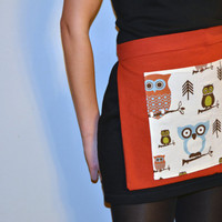 Smokey Orange Meets Owl Apron