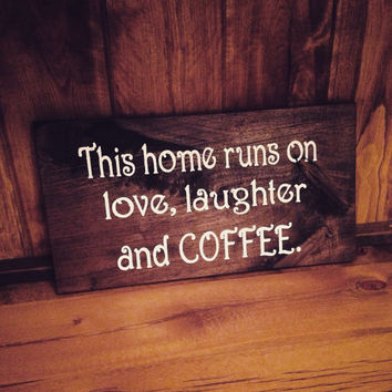 Rustic Sign, Coffee Sign, Coffee Decor, Small Wood Sign, Gift Ideas, Trending Gift Ideas