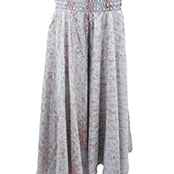 Mogul Women's Skirts Vintage Silk Sari High Waist Wide Leg Split Palazzo Pants