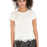 Shoptiques — Embroidered Lace Blouse
