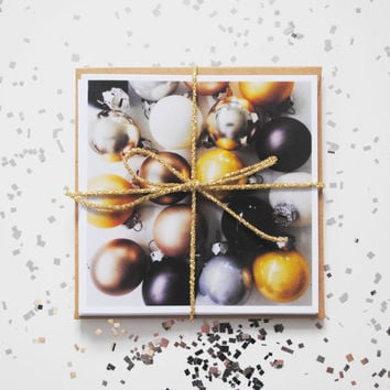 Festive Christmas Ornaments Note Card bunddle  - Three Iphoneography note cards blank inside
