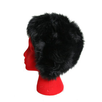 Vintage Lambs Fur Hat - Shearling Hat - Black Fur Hat - Genuine Tuscan Lamb Skin Fur - Made In Italy - Vintage - Ultra Soft - 50s 60s Cap