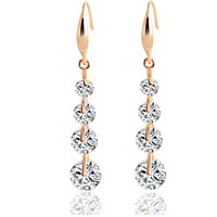 Fashionable temperament fresh crystal zircon earrings earrings