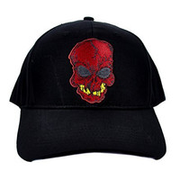 Red Skeleton Skull Hat Baseball Cap