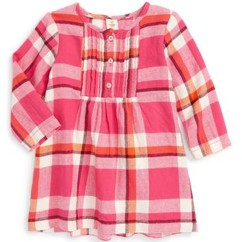 Tucker + Tate Plaid Flannel Pintuck Dress (Baby Girls) | Nordstrom