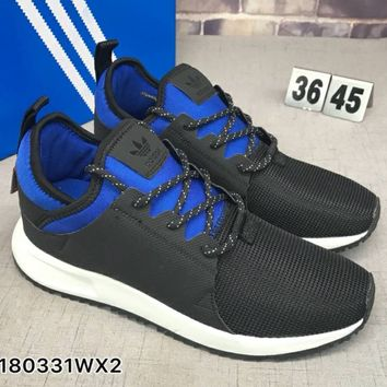 Adidas X BOOT Trending Running Sports Shoes Sneakers Black&Blue