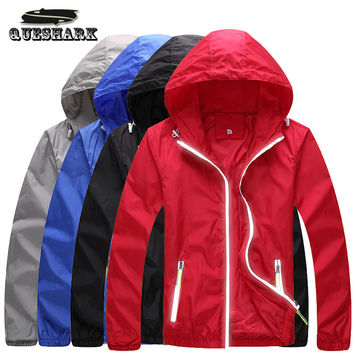 Men Women Anti-UV Reflective Cycling Jacket Outdoor Sport Running Camping Hiking Double Layer Skin Coat Bike Bicycle Windbreaker