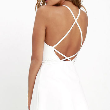 Soft Strumming Ivory A-Line Dress