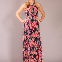 Swept Away Dress - Navy floral