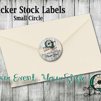 Small Circle 1.5x1.5 Product Sticker Labels Thank you Notes Envelope stickers graphic design stickers personalized customized Quality