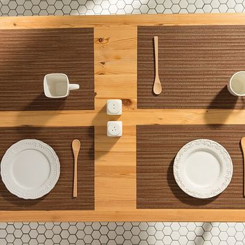 Hazelnut Woven Table Placemats