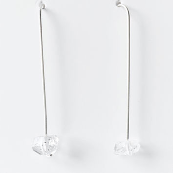 Herkimer Diamond Sterling Earrings  -  trunk show