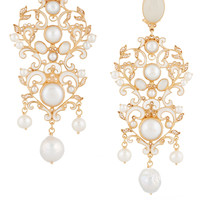 Percossi Papi - Gold-plated, moonstone and pearl earrings