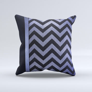 Purple Textured Chevron Pattern Ink-Fuzed Decorative Throw Pillow